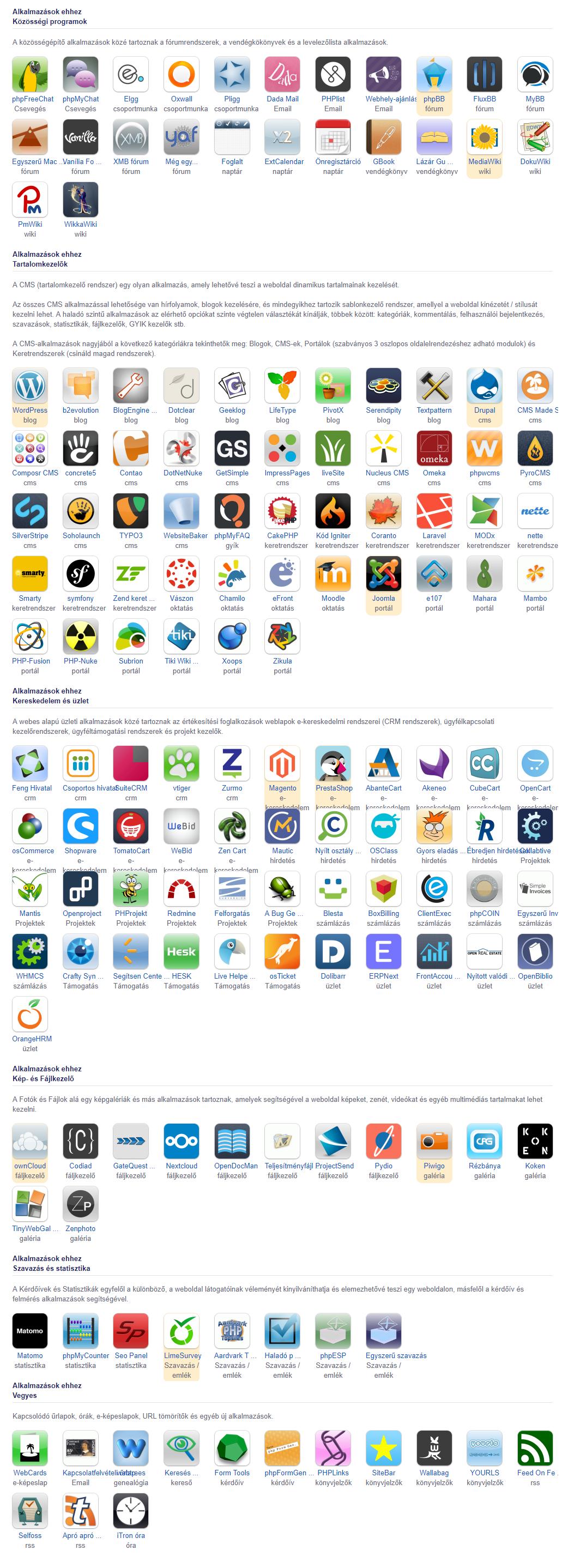 3ddd42a304 legnépszerűbbek: Prestashop, Magento, osCommerce, opencart, Zen Cart,